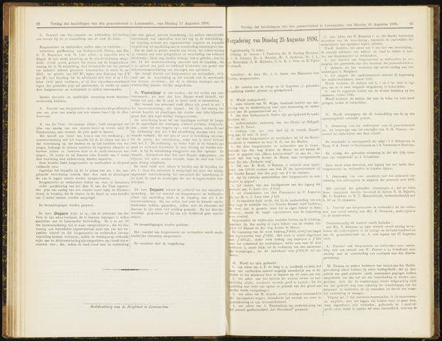 Raadsverslagen van de gemeente Leeuwarden, 1865-2007 (Notulen) 1896-08-25