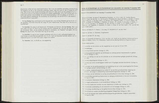 Raadsverslagen van de gemeente Leeuwarden, 1865-2007 (Notulen) 1975-11-17