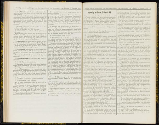 Raadsverslagen van de gemeente Leeuwarden, 1865-2007 (Notulen) 1916-01-25