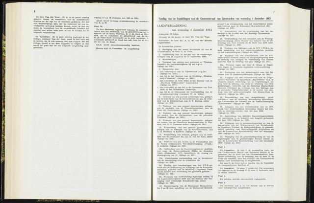 Raadsverslagen van de gemeente Leeuwarden, 1865-2007 (Notulen) 1963-12-04