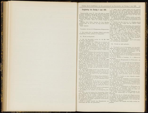 Raadsverslagen van de gemeente Leeuwarden, 1865-2007 (Notulen) 1909-06-08