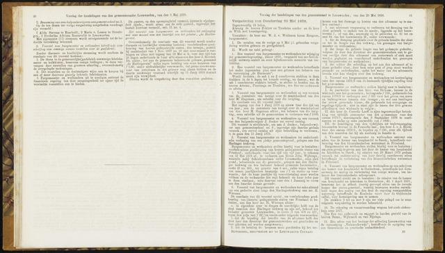 Raadsverslagen van de gemeente Leeuwarden, 1865-2007 (Notulen) 1878-05-23