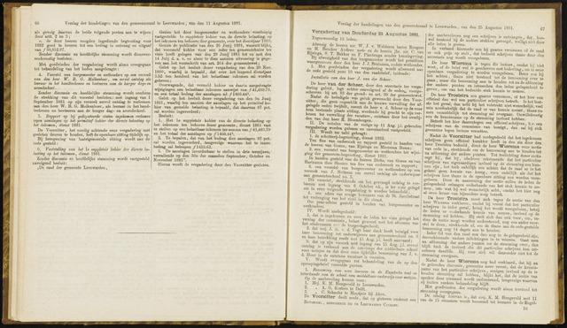 Raadsverslagen van de gemeente Leeuwarden, 1865-2007 (Notulen) 1881-08-25
