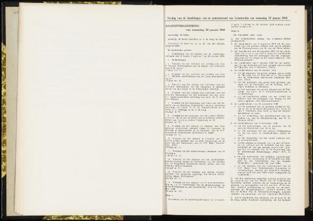 Raadsverslagen van de gemeente Leeuwarden, 1865-2007 (Notulen) 1960