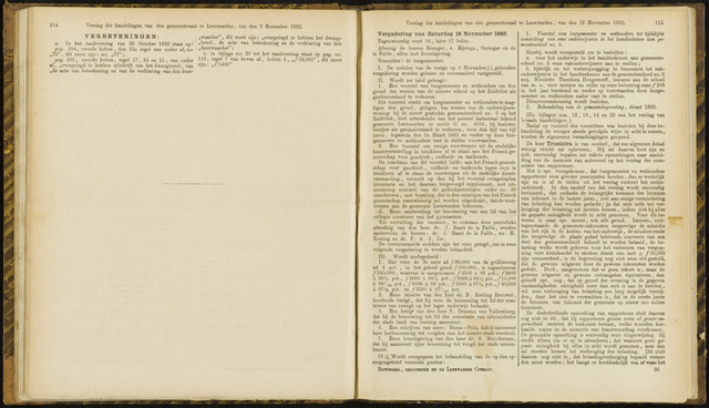 Raadsverslagen van de gemeente Leeuwarden, 1865-2007 (Notulen) 1882-11-18