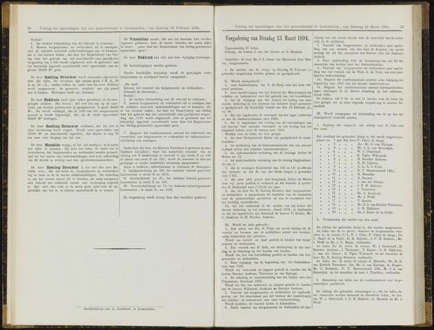 Raadsverslagen van de gemeente Leeuwarden, 1865-2007 (Notulen) 1894-03-13