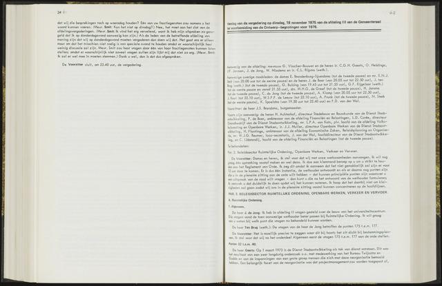 Raadsverslagen van de gemeente Leeuwarden, 1865-2007 (Notulen) 1975-11-18