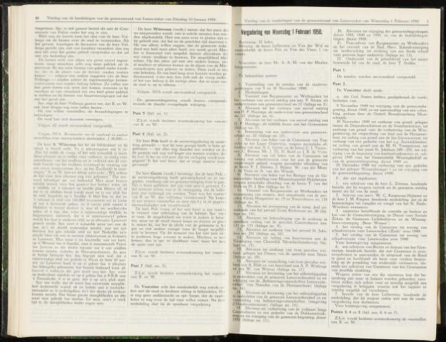 Raadsverslagen van de gemeente Leeuwarden, 1865-2007 (Notulen) 1950-02-01