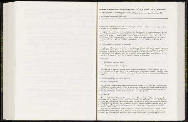 Raadsverslagen van de gemeente Leeuwarden, 1865-2007 (Notulen) 1979-11-13