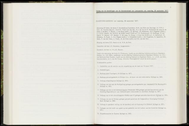 Raadsverslagen van de gemeente Leeuwarden, 1865-2007 (Notulen) 1977-09-26
