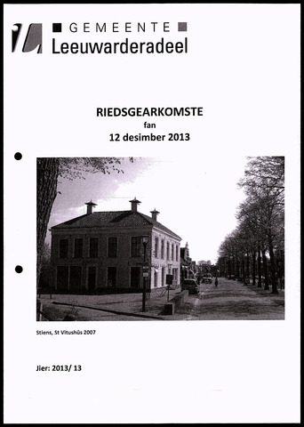 Notulen van de gemeenteraad van Leeuwarderadeel 2013-12-12
