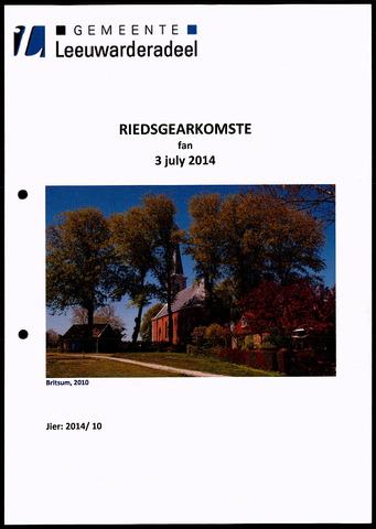 Notulen van de gemeenteraad van Leeuwarderadeel 2014-07-03