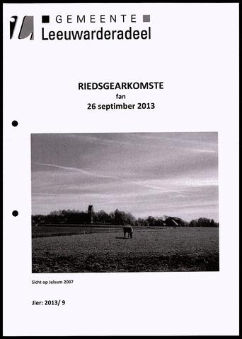 Notulen van de gemeenteraad van Leeuwarderadeel 2013-09-26