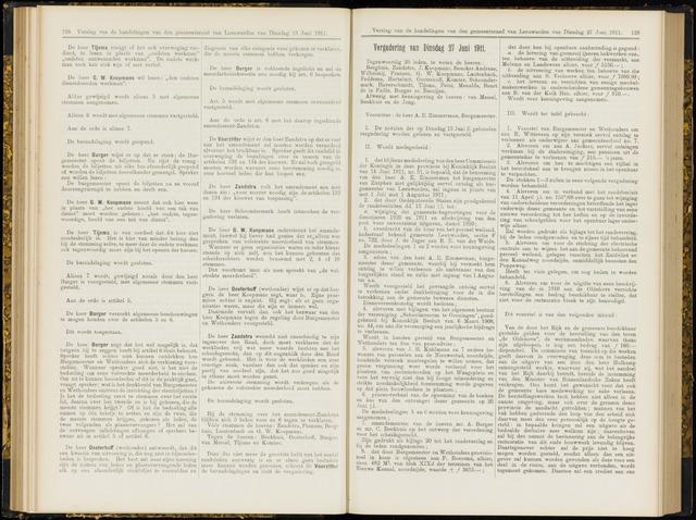 Raadsverslagen van de gemeente Leeuwarden, 1865-2007 (Notulen) 1911-06-27