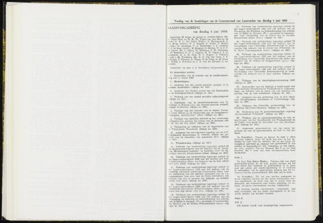 Raadsverslagen van de gemeente Leeuwarden, 1865-2007 (Notulen) 1968-06-04