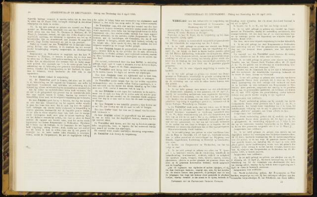 Raadsverslagen van de gemeente Leeuwarden, 1865-2007 (Notulen) 1869-04-22