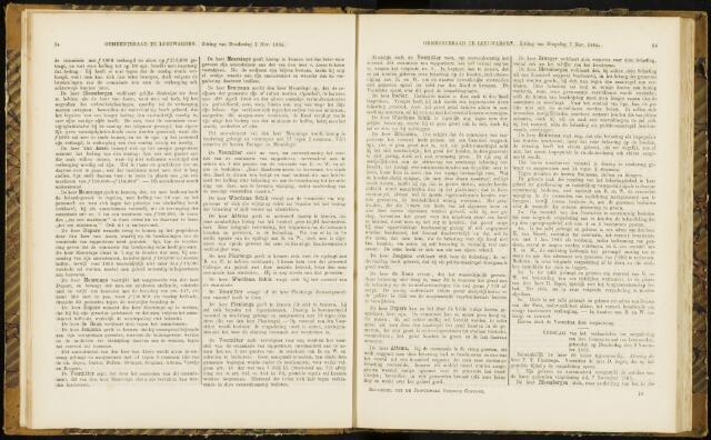 Raadsverslagen van de gemeente Leeuwarden, 1865-2007 (Notulen) 1865-11-09