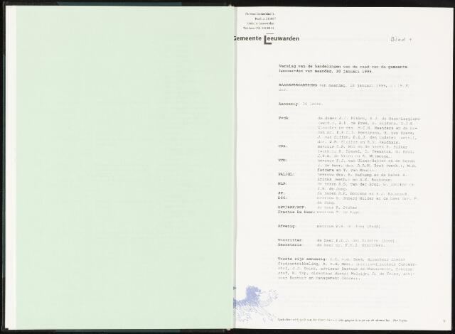 Raadsverslagen van de gemeente Leeuwarden, 1865-2007 (Notulen) 1999