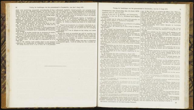 Raadsverslagen van de gemeente Leeuwarden, 1865-2007 (Notulen) 1878-06-13