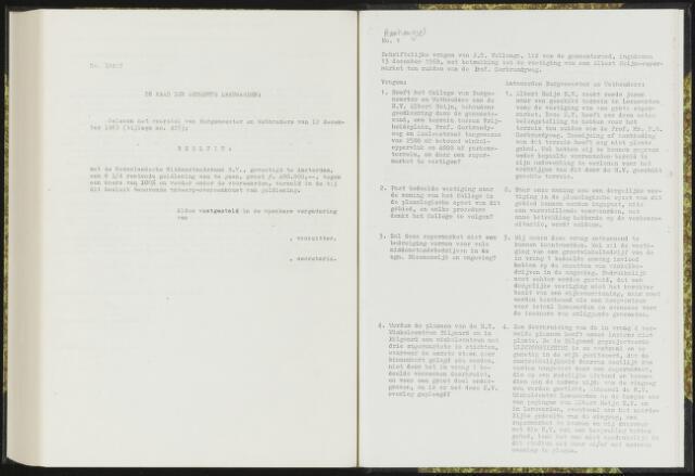 Raadsverslagen van de gemeente Leeuwarden, 1865-2007 (Schriftelijke vragen) 1969