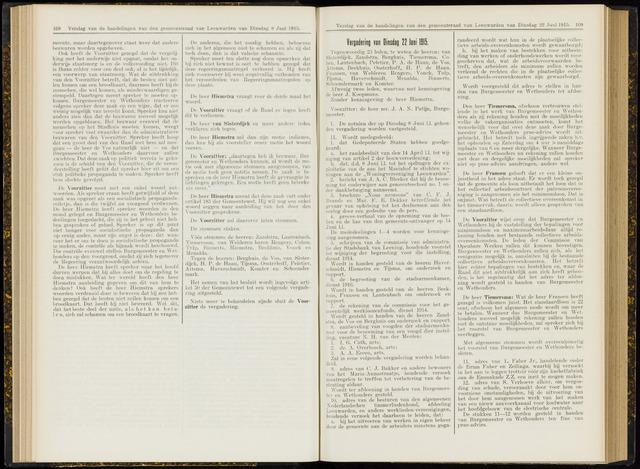 Raadsverslagen van de gemeente Leeuwarden, 1865-2007 (Notulen) 1915-06-22