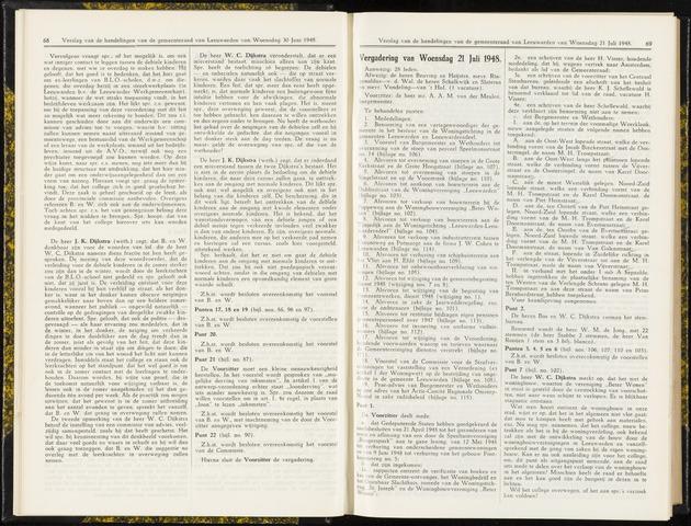 Raadsverslagen van de gemeente Leeuwarden, 1865-2007 (Notulen) 1948-07-21