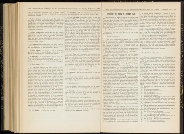 Raadsverslagen van de gemeente Leeuwarden, 1865-2007 (Notulen) 1920-12-14