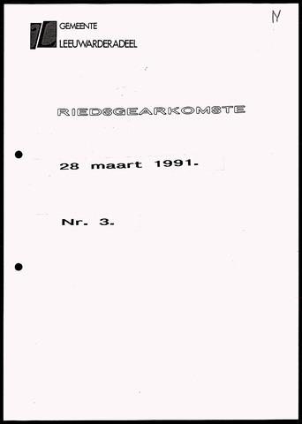 Notulen van de gemeenteraad van Leeuwarderadeel 1991-03-28