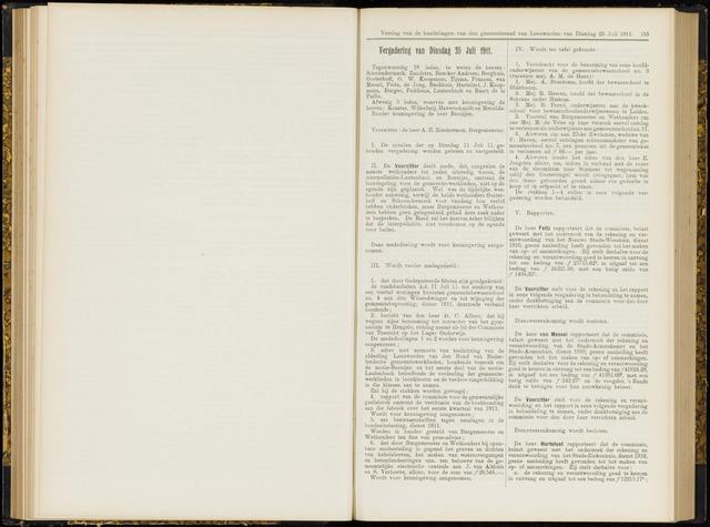Raadsverslagen van de gemeente Leeuwarden, 1865-2007 (Notulen) 1911-07-25