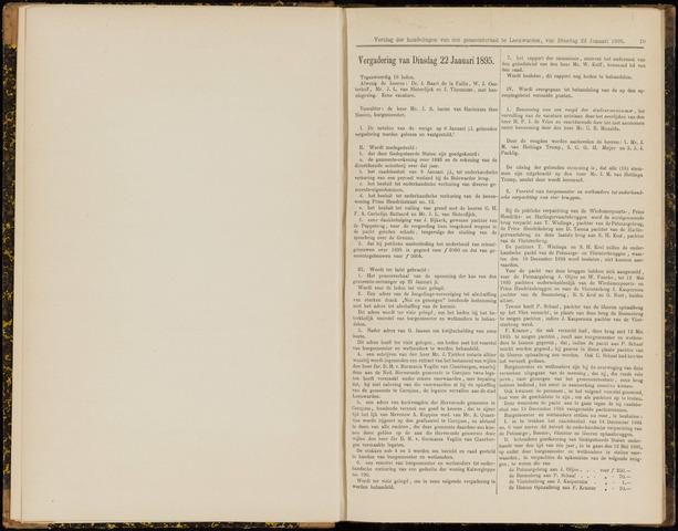 Raadsverslagen van de gemeente Leeuwarden, 1865-2007 (Notulen) 1895-01-22