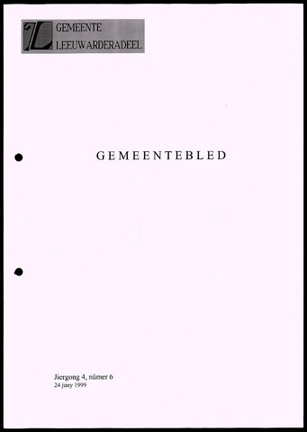 Notulen van de gemeenteraad van Leeuwarderadeel 1999-06-24