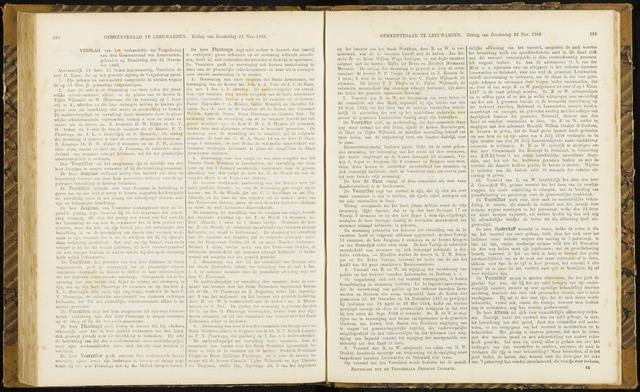 Raadsverslagen van de gemeente Leeuwarden, 1865-2007 (Notulen) 1866-11-22