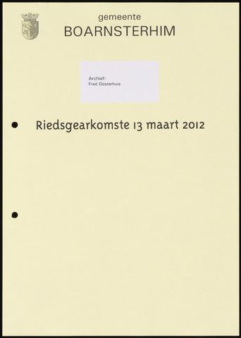 Boarnsterhim vergaderstukken gemeenteraad  2012-03-13