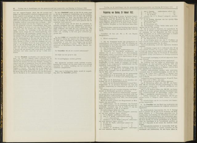 Raadsverslagen van de gemeente Leeuwarden, 1865-2007 (Notulen) 1922-02-28