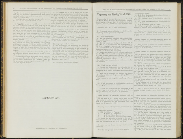 Raadsverslagen van de gemeente Leeuwarden, 1865-2007 (Notulen) 1903-07-28