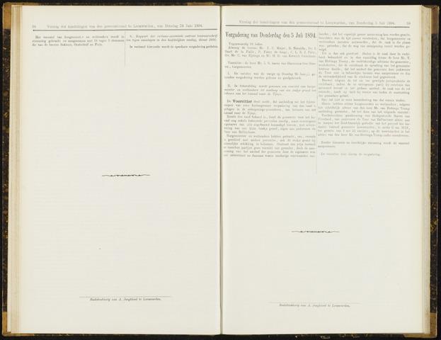 Raadsverslagen van de gemeente Leeuwarden, 1865-2007 (Notulen) 1894-07-05