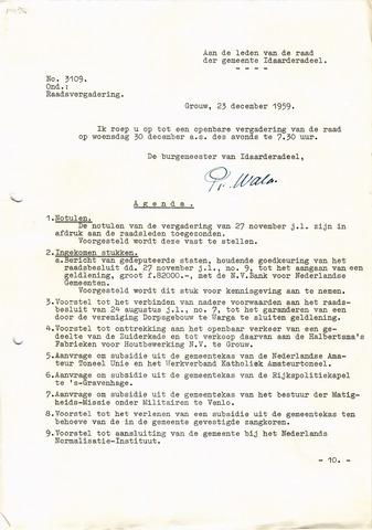 raadsverslagen Idaarderadeel 1935-1983 1959-12-30