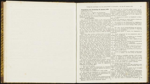 Raadsverslagen van de gemeente Leeuwarden, 1865-2007 (Notulen) 1879-01-23