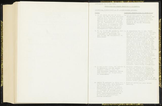 Raadsverslagen van de gemeente Leeuwarden, 1865-2007 (Schriftelijke vragen) 1962
