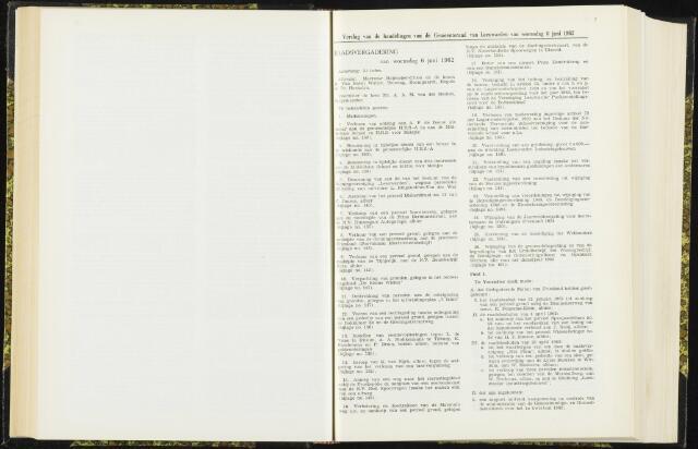 Raadsverslagen van de gemeente Leeuwarden, 1865-2007 (Notulen) 1962-06-06