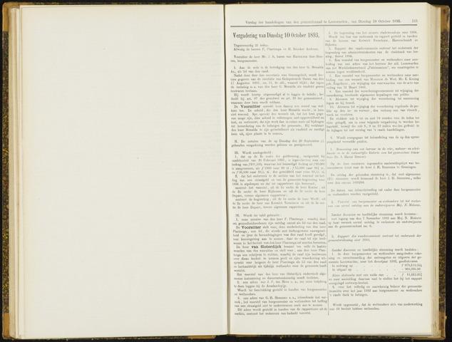 Raadsverslagen van de gemeente Leeuwarden, 1865-2007 (Notulen) 1893-10-10