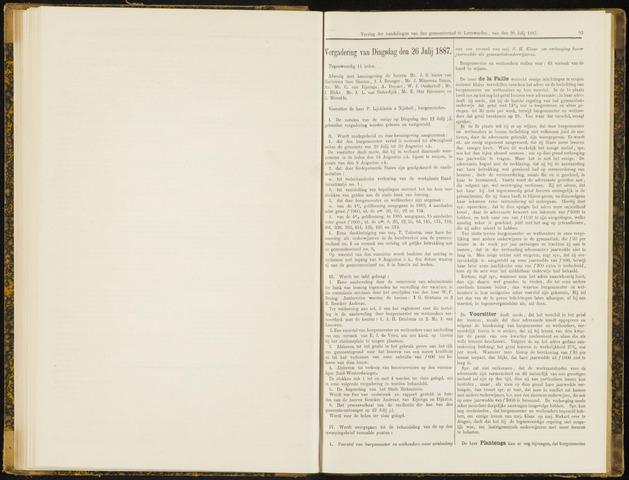 Raadsverslagen van de gemeente Leeuwarden, 1865-2007 (Notulen) 1887-07-26