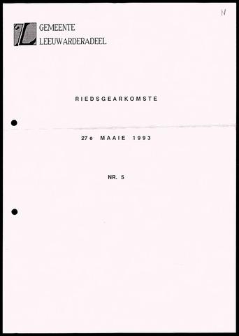 Notulen van de gemeenteraad van Leeuwarderadeel 1993-05-27