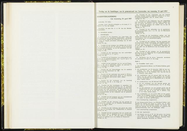 Raadsverslagen van de gemeente Leeuwarden, 1865-2007 (Notulen) 1957-04-24