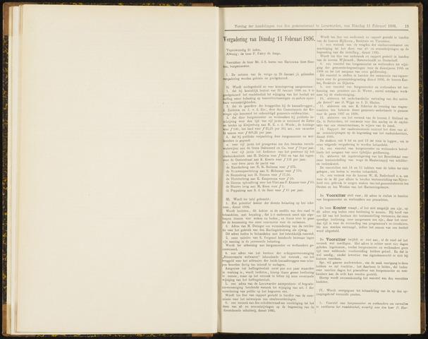 Raadsverslagen van de gemeente Leeuwarden, 1865-2007 (Notulen) 1896-02-11