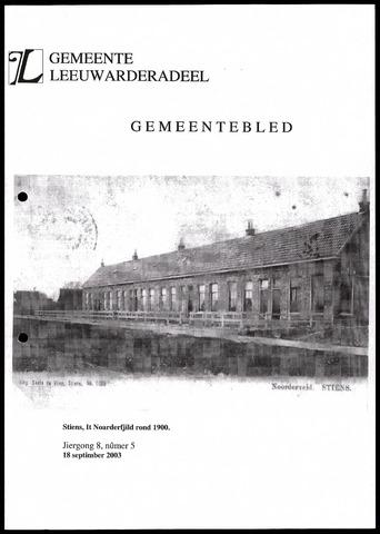 Notulen van de gemeenteraad van Leeuwarderadeel 2003-09-18
