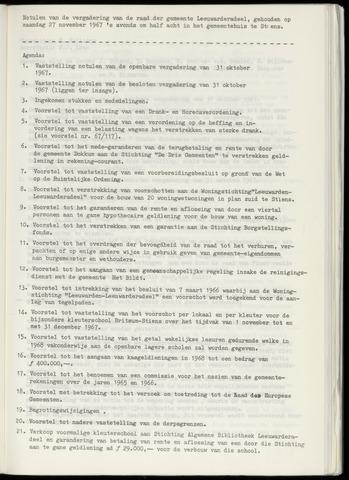 Notulen van de gemeenteraad van Leeuwarderadeel 1967-11-27