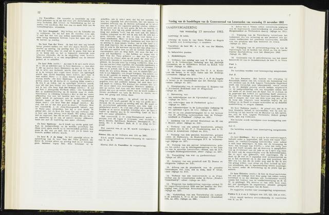 Raadsverslagen van de gemeente Leeuwarden, 1865-2007 (Notulen) 1963-11-13