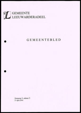 Notulen van de gemeenteraad van Leeuwarderadeel 2000-04-27