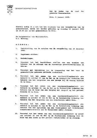 Boarnsterhim vergaderstukken gemeenteraad  1990-01-16